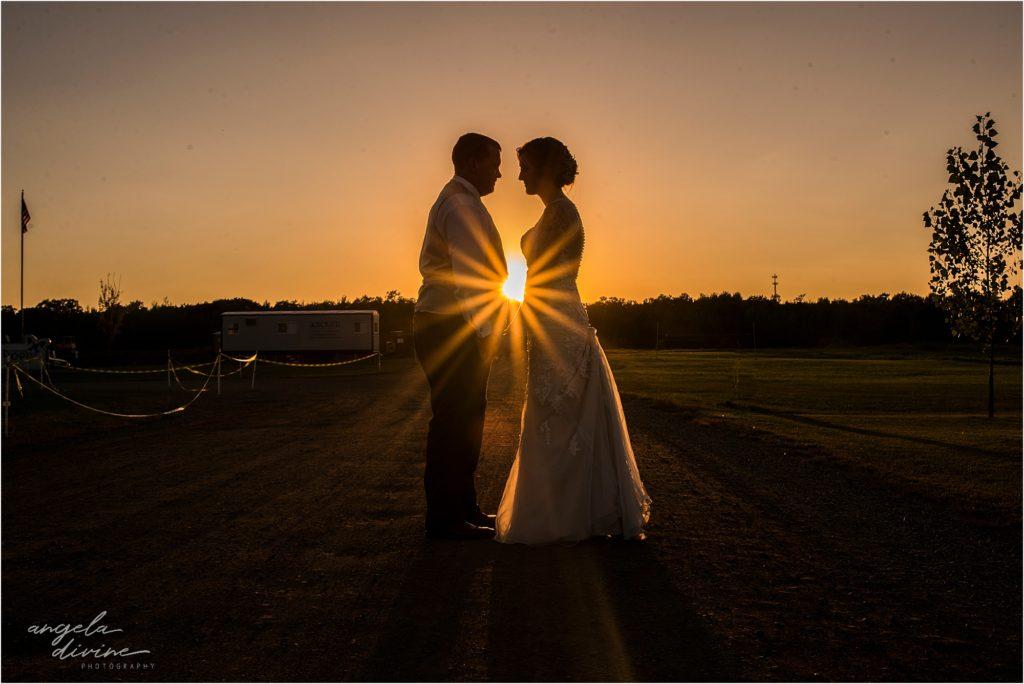 vent center wedding sunset Mora Minnesota