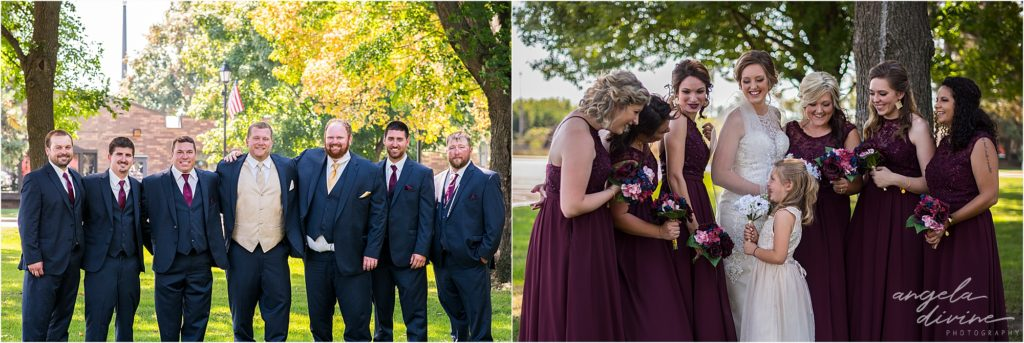 the grand event center wedding bridal party