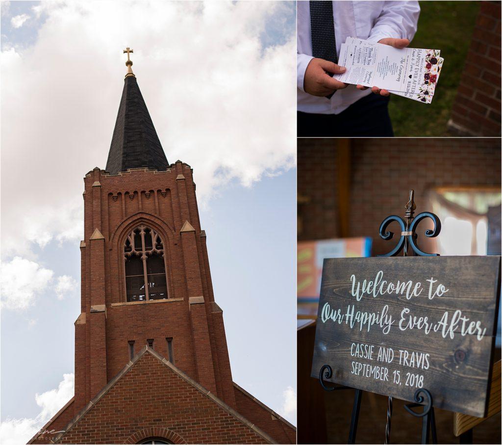 the grand event center wedding pine city church