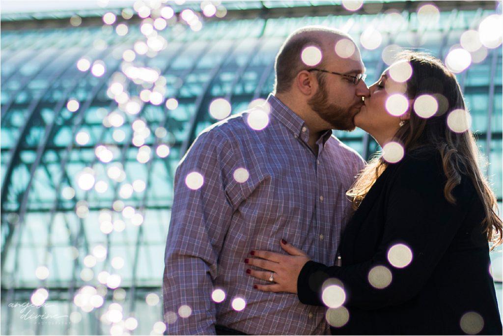 Como Zoo Engagement Session Fountain Sparkles