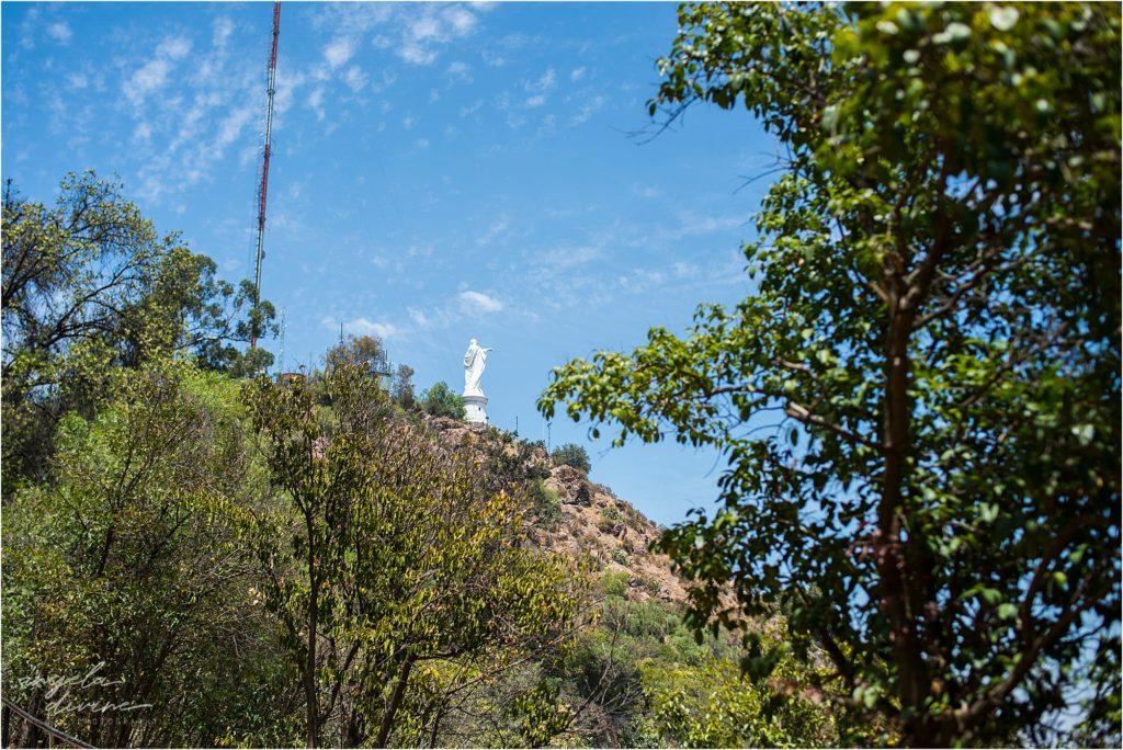 Santiago Cerro San Cristobal Statue