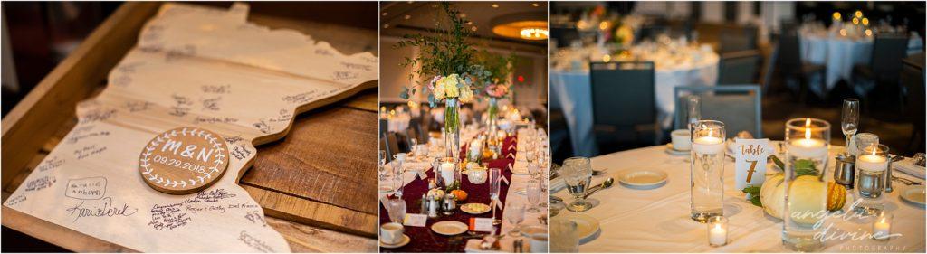 InterContinental St. Paul Riverfront Wedding table details