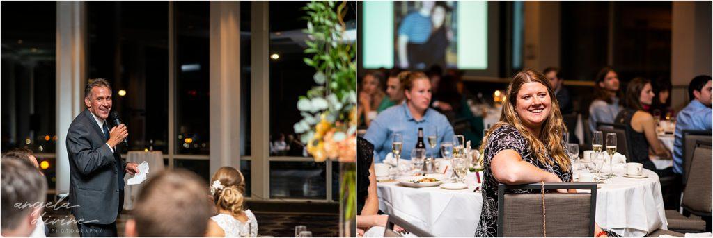 InterContinental St. Paul Riverfront Wedding reception speech