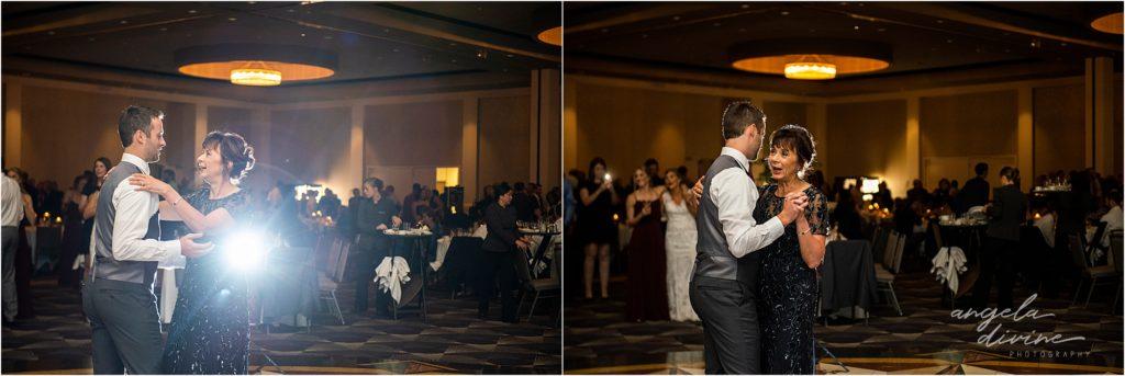 InterContinental St. Paul Riverfront Wedding mother son dance