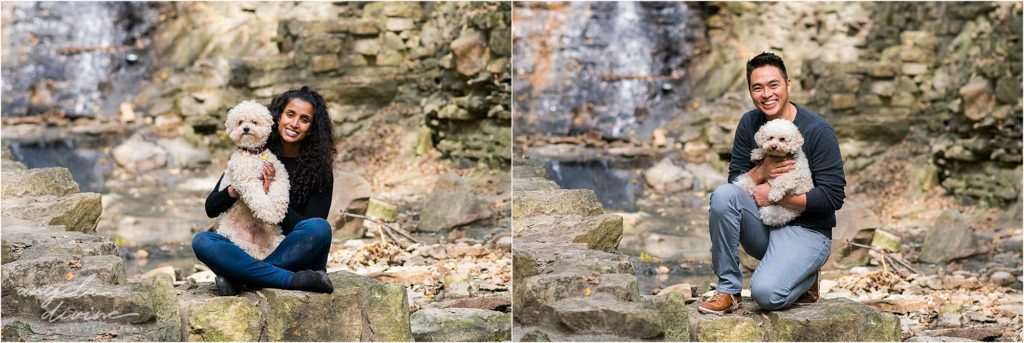 Minneapolis pet photographer_fur is my family project otis and maya waterfall