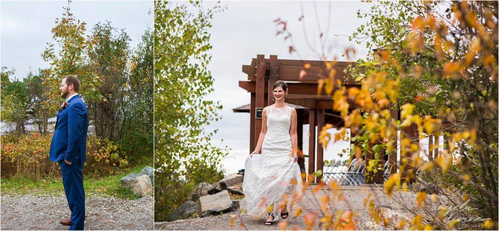 enger park duluth wedding first look