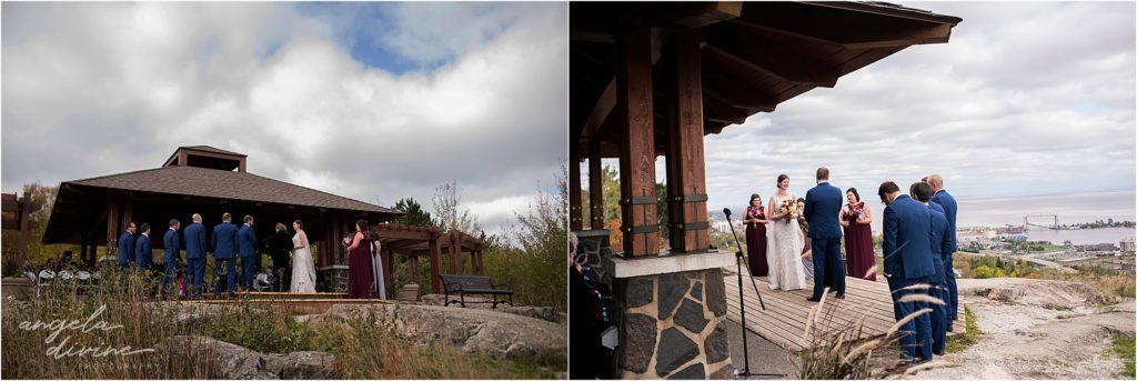 enger park duluth wedding ceremony