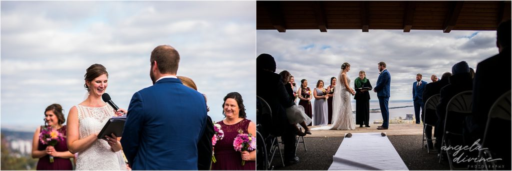 enger park duluth wedding ceremony reading