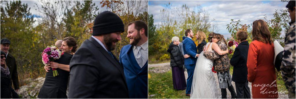 enger park duluth wedding ceremony receiving line