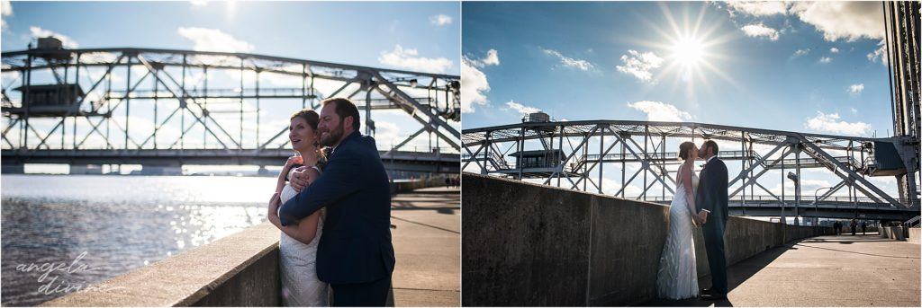 enger park duluth wedding pier