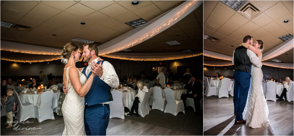 enger park duluth wedding Black woods event center first dance