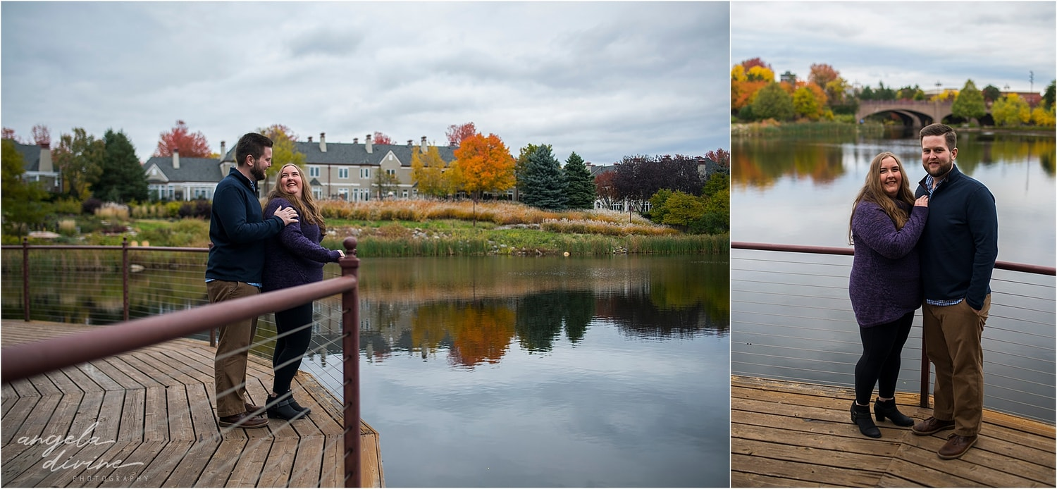 Centennial Lakes Edina Engagement Session  Fall