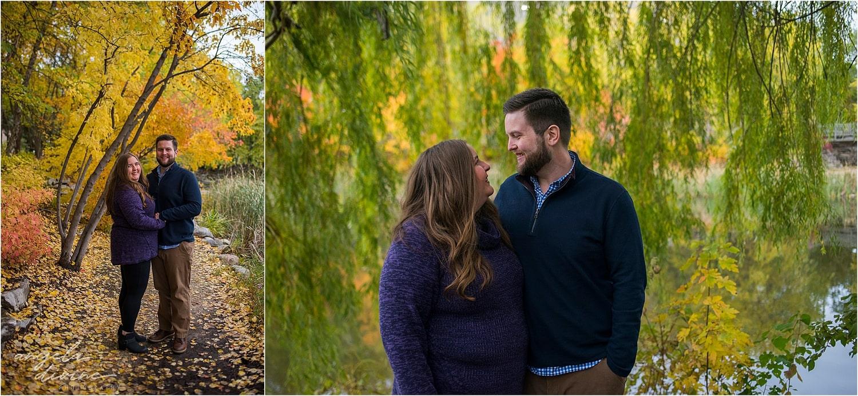Centennial Lakes Edina Engagement Willow Trees
