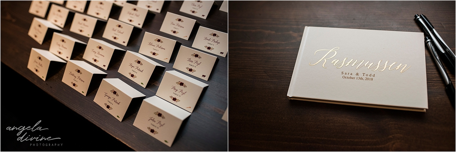 Graduate Minneapolis Wedding place cards