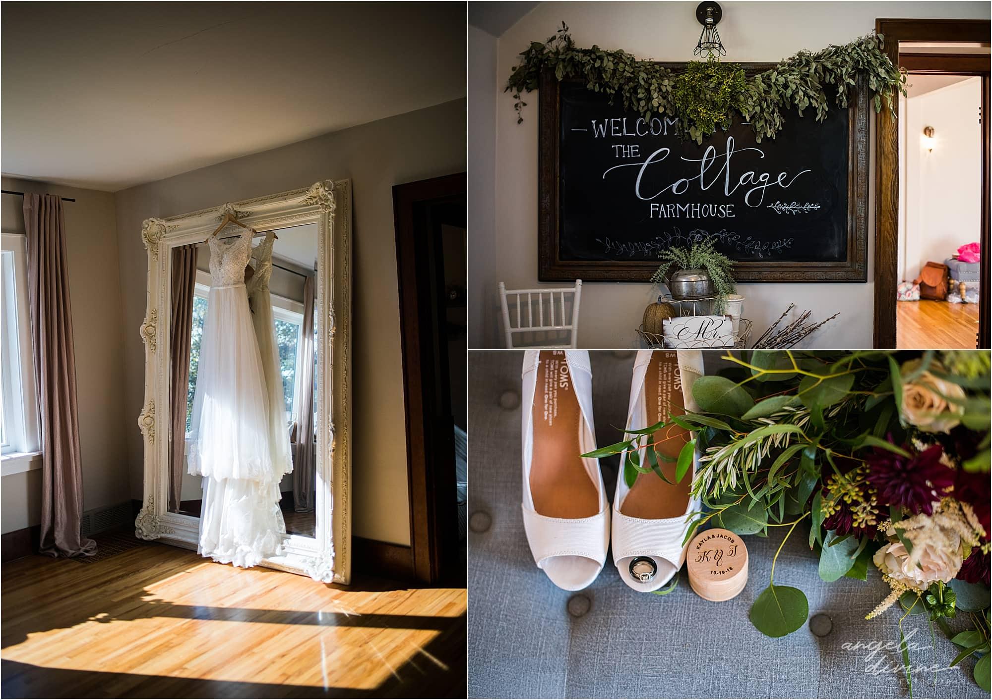 The Cottage Farmhouse Wedding bridal cottage