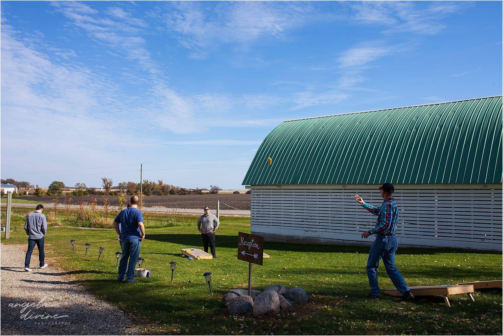 The Cottage Farmhouse Wedding lawn games