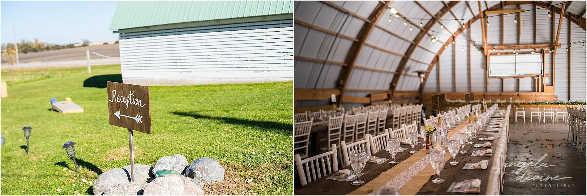 The Cottage Farmhouse Wedding Reception details