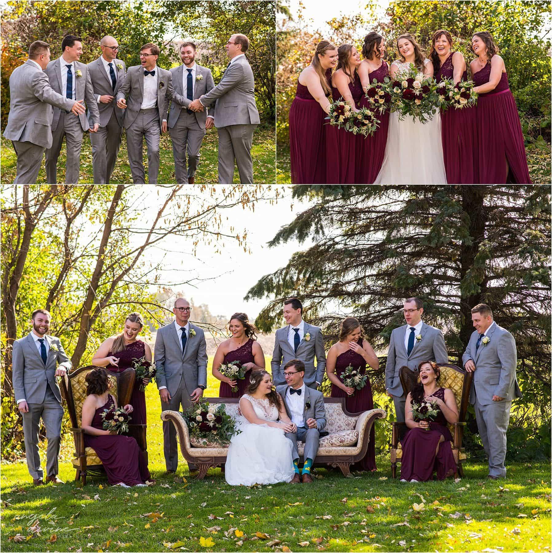 The Cottage Farmhouse Wedding Bridal Party