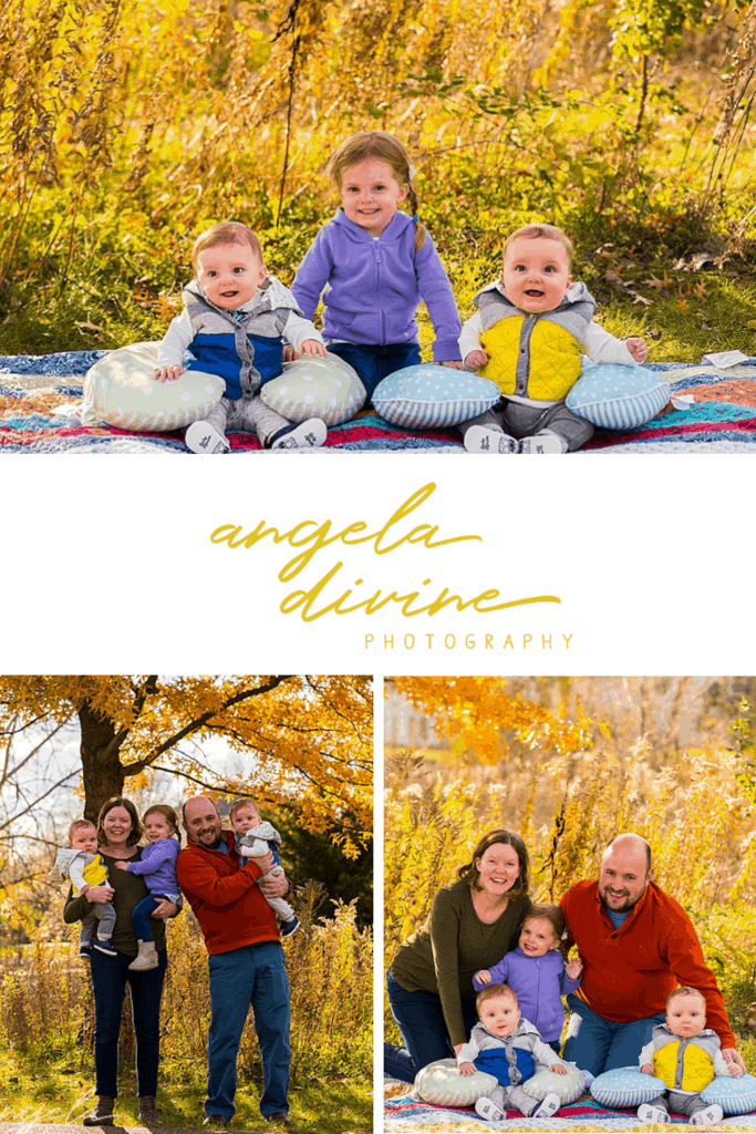 Here is a sampling of a family photo session I did last fall in Apple Valley, Minnesota. Check out more of my favorites from their October family session on my blog. | Angela Divine Photography | #family #portraits #fall #minnesota | https://angeladivinephotography.com/apple-valley-family-session/