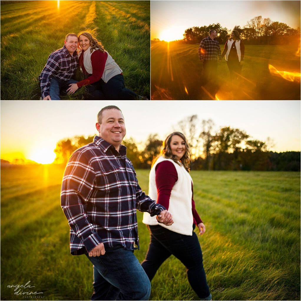 fall engagement session sunset