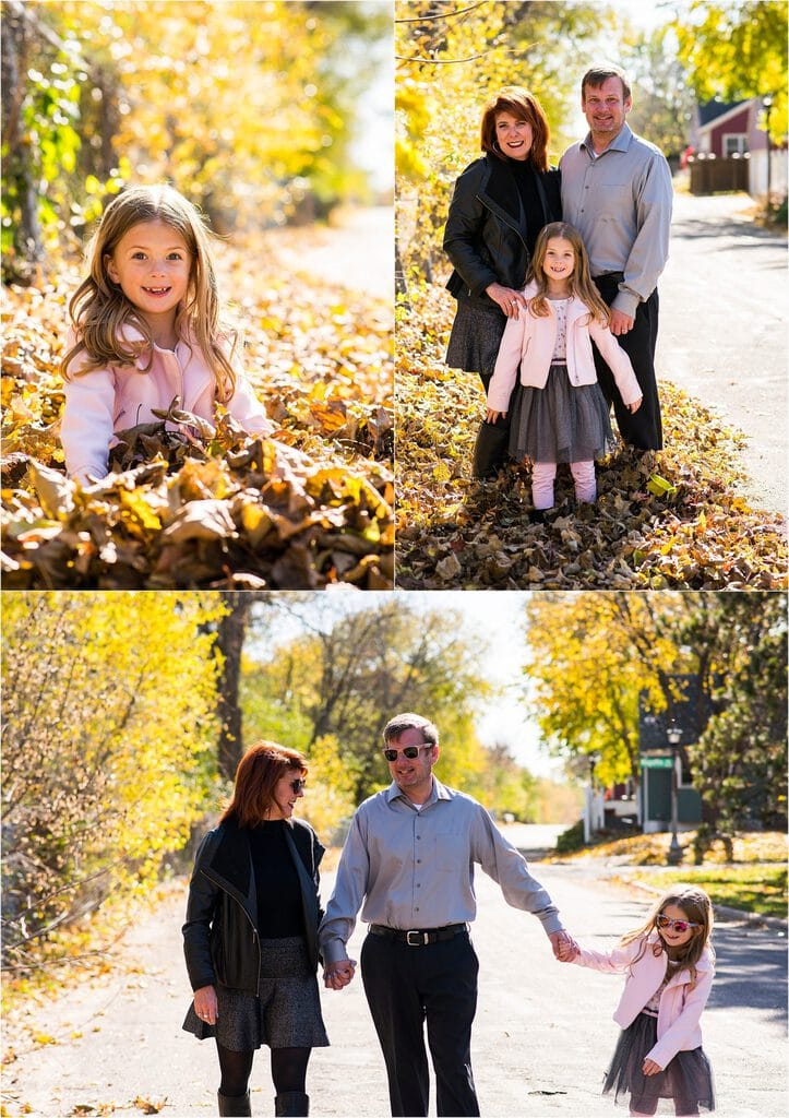 Highland Park Family Session in the leaves