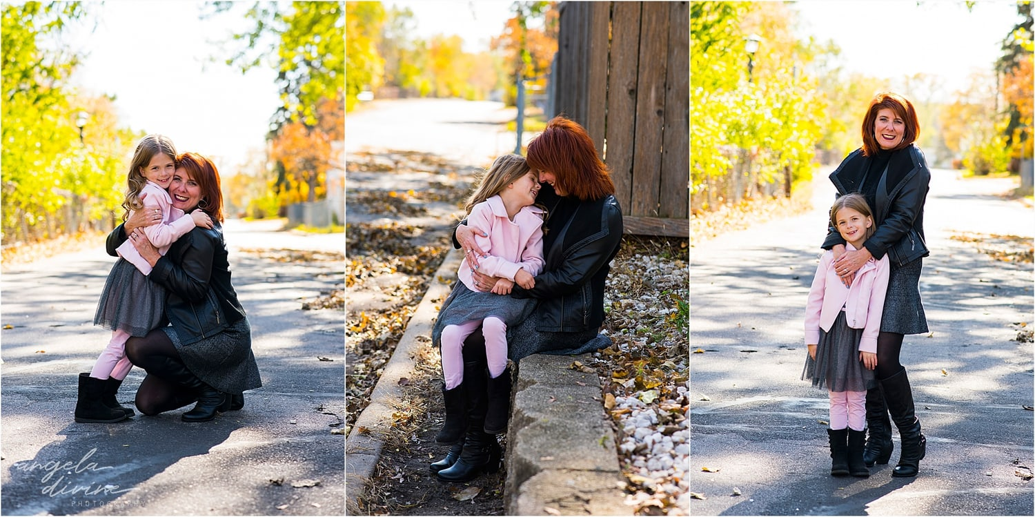 Highland Park Family Session red wall
