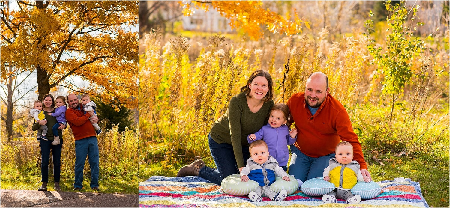 Apple Valley Family Session orange leaves