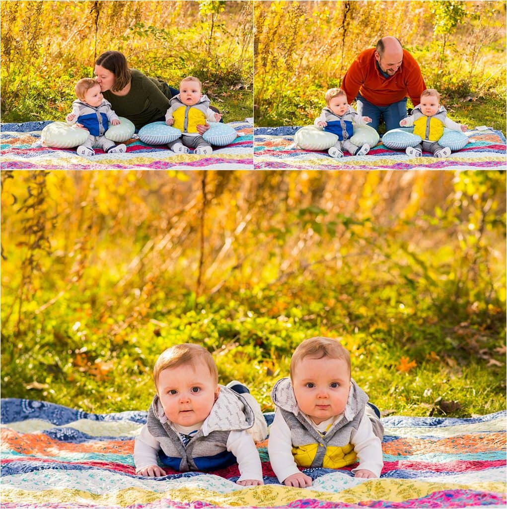 Apple Valley Family Session twins