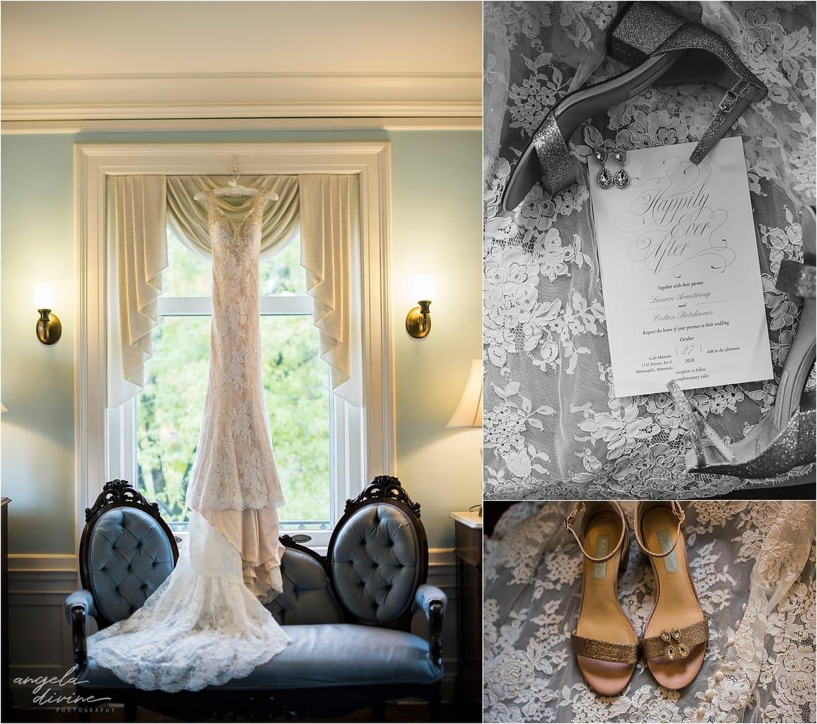 wedding dress shoes invitation