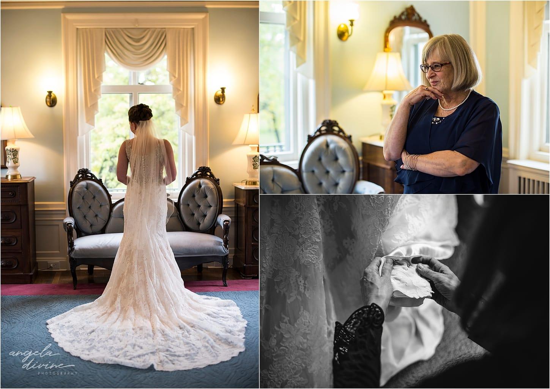 Gale Mansion Fall Wedding wedding gown