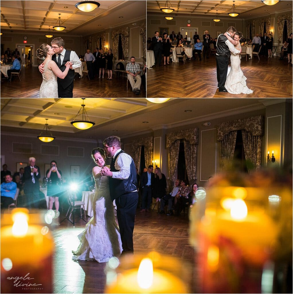 Gale Mansion Fall Wedding first dance
