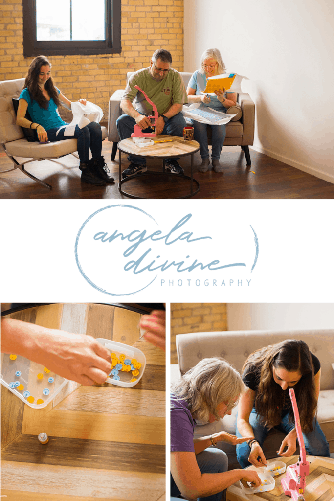Here are some pictures from a personal brand photography session I did for Kidderbug Kreations, a company that sells handcrafted sewn and embroidered gifts. My favorite images and stories from her session are on the blog. | Angela Divine Photography | Minneapolis wedding + brand photographer | #branding #personalbrand  #minnesota | https://angeladivinephotography.com/kidderbug-kreations-personal-branding-session/
