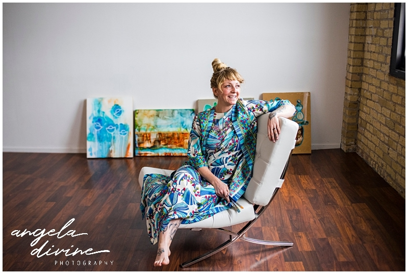 Minneapolis Brand Photography for Artist Colee Recke sitting