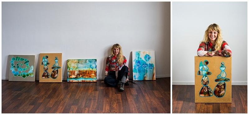 Minneapolis Brand Photography for Artist vivid colors