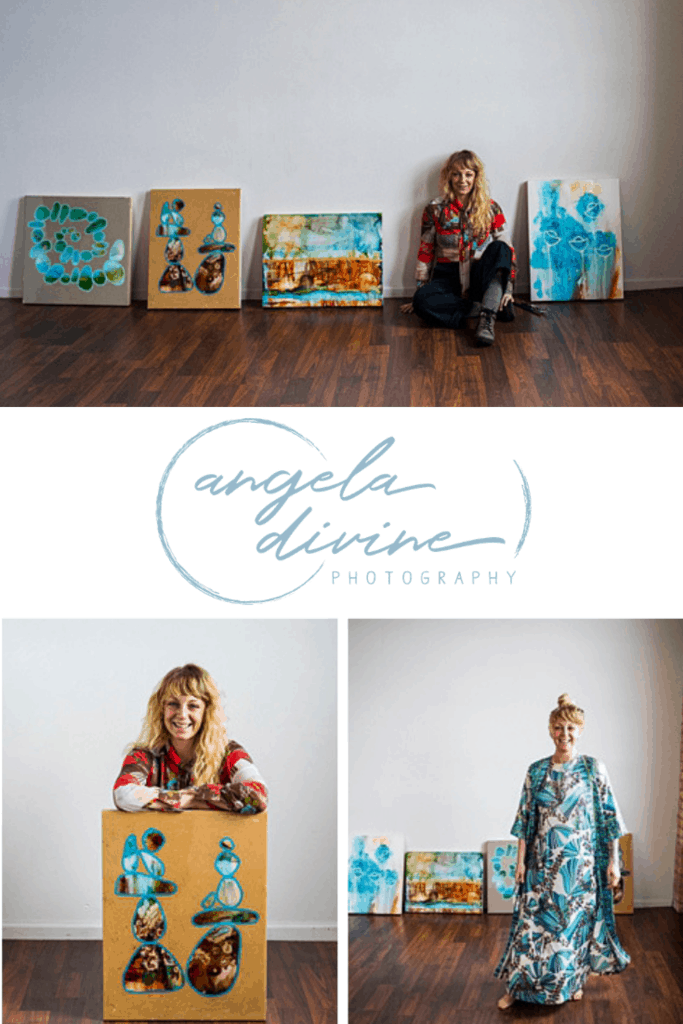 These pictures are from a personal brand photography session for Minneapolis artist Colee Recke, who who uses a variety of mediums, including watercolor, acrylic paint, alcohol inks, and resin. The photos portray the joy and vibrancy she exudes through her paintings and her personality. | Angela Divine Photography | Minneapolis wedding + brand photographer | #branding #personalbrand #minnesota #artist #painting | https://angeladivinephotography.com/minneapolis-brand-photography-artist