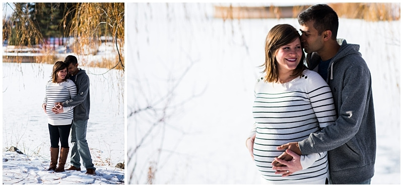 Minneapolis lifestyle maternity session snow photos