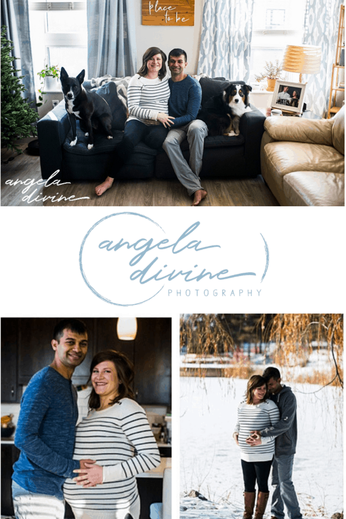 These pictures are from a Minneapolis lifestyle maternity session I did this past winter in the couple's home near Centennial Lakes Park. | Angela Divine Photography | Minneapolis wedding + brand photographer | #maternity #minnesota #maternityportraits | https://angeladivinephotography.com/minneapolis-lifestyle-maternity-session