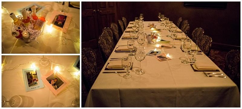 Nicollet Island Inn Winter Wedding table setting