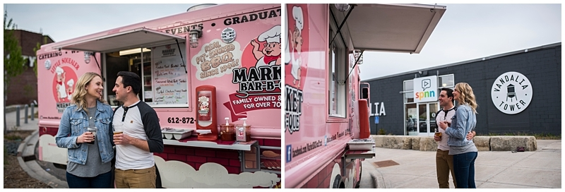 Lake Monster Brewing Engagement Session food truck