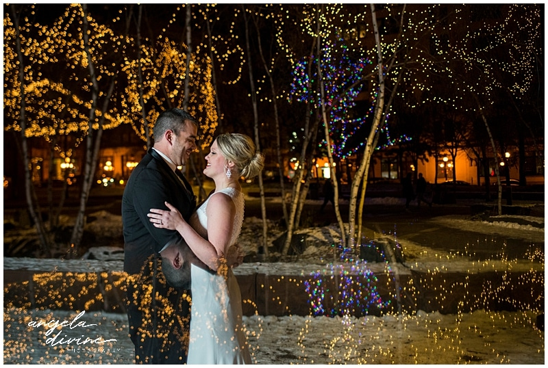 Winter St. Paul Wedding Christmas lights