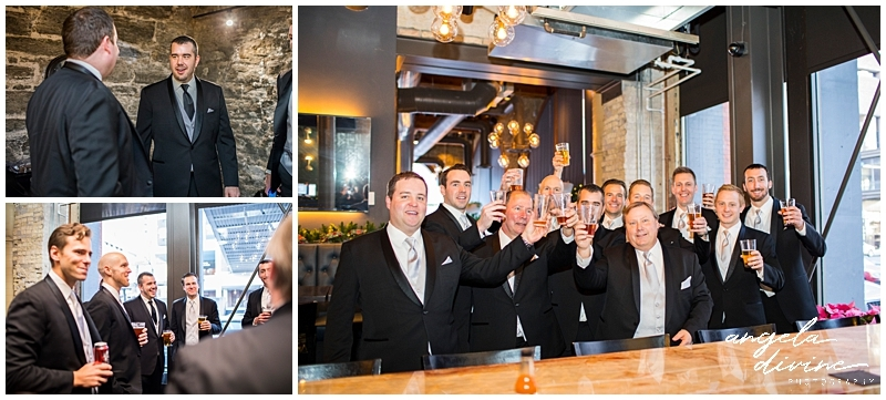 Winter St. Paul Wedding groomsmen