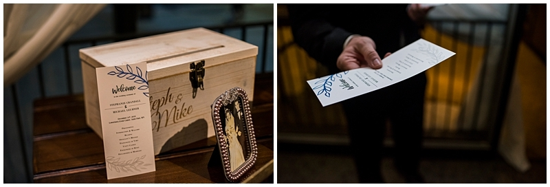 Winter St. Paul Wedding card box and program