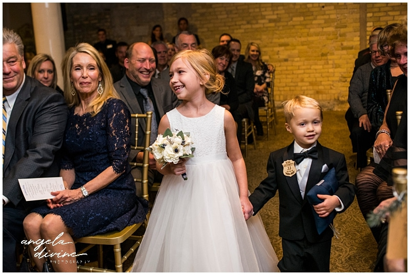 Winter St. Paul Wedding flower girl and ring bearer