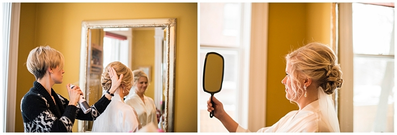 Como Conservatory Wedding hair and makeup