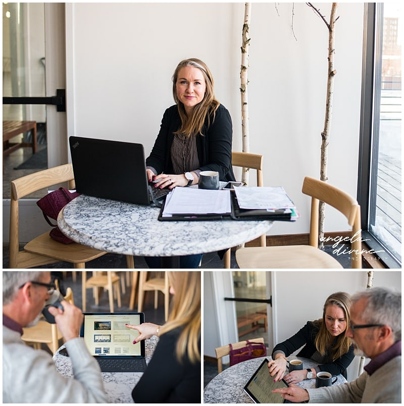 Minneapolis Brand Photography for Website Designer client meeting