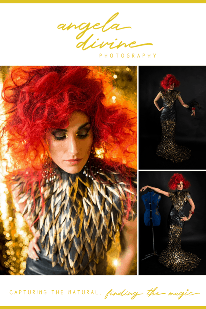 These pictures are from a collaboration I did with some amazing Minneapolis women to create art. Hi Hi Creative designed a dress out of inner tubes and brought it to my studio to be styled and photographed. Visit my blog for more photographs from this creative and artistic shoot.   Angela Divine Photography   Minneapolis wedding + brand photographer   #fashionphotography #wearableart #minneapolis   https://angeladivinephotography.com/minneapolis-fashion-photography/