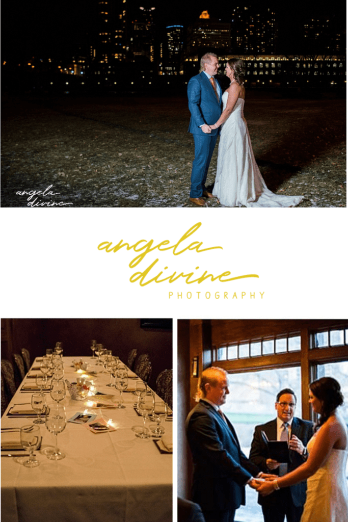 These pictures are from a winter wedding I photographed at Nicollet Island Inn in Minneapolis, Minnesota. Visit my blog for more photographs from their intimate ceremony. | Angela Divine Photography | Minneapolis wedding + brand photographer | #wedding #minnesota #winterwedding | https://angeladivinephotography.com/nicollet-island-inn-winter-wedding/
