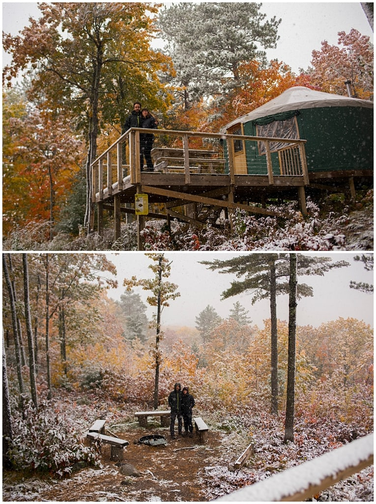 Bayfield, Wisconsin Yurt Winter
