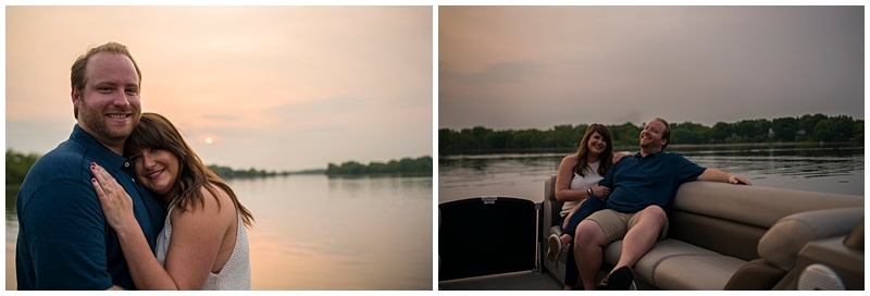 Downtown Wayzata Engagement Session sunset on the water