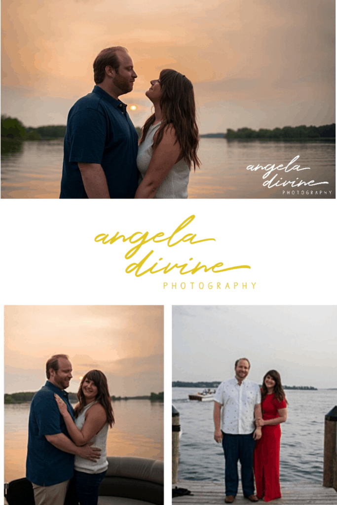 These photos are from an engagement session in downtown Wayzata. We started out at COV and then headed to Lake Sarah for some sunset pictures by the water. Visit my blog for more photos from this sunset photo session. | Angela Divine Photography | Minneapolis wedding + brand photographer | #engagementshoot #engagementsession #sunset | https://angeladivinephotography.com/downtown-wayzata-engagement-session-annie-tyler